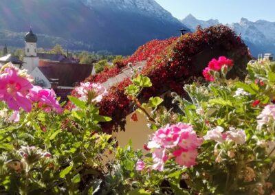 Balkonblick auf Wallgau