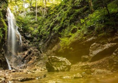 Kleiner Wasserfall in Wallgau