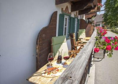 Balkon Ferienwohnung Karwendelblick