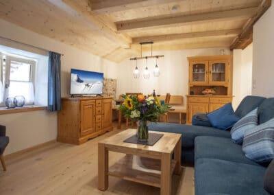 Wohn- und Essbereich Ferienwohnung Karwendelblick 2