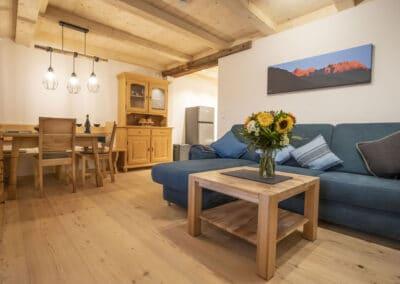 Wohn- und Essbereich Ferienwohnung Karwendelblick