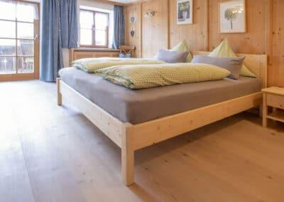 Schlafzimmer Ferienwohnung Karwendelblick