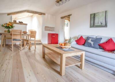 Wohn- und Essbereich Ferienwohnung Schöttelkarblick