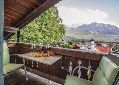 Balkon Ferienwohnung Schöttelkarblick